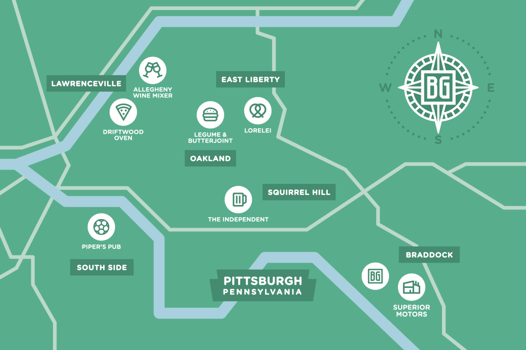Pittsburgh Map Green-01